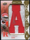 2012 Upper Deck Rookie Lettermen Autographs #RLMS Mohamed Sanu*/serial #'d to 15,/letters spell SCARLET KNIGHT