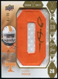 2012 Upper Deck Rookie Lettermen Autographs #RLTP Tauren Poole*/serial #'d to 35,/letters spell VOLUNTEERS Aut