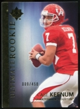 2012 Upper Deck Ultimate Collection #10 Case Keenum /450