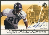 2002 SP Authentic #195 Ed Reed Rookie Auto #0393/1150