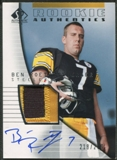 2004 SP Authentic #213 Ben Roethlisberger Rookie Patch Auto #218/299