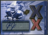 2004 SPx #194 Julius Jones Spectrum Gold Rookie Ball Jersey Auto #15/25
