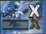 2004 SPx #217 Roy Williams Spectrum Gold Rookie Ball Jersey Auto #06/25