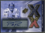 2004 SPx #218 Philip Rivers Spectrum Gold Rookie Ball Jersey Auto #04/25
