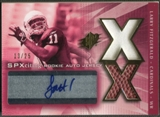 2004 SPx #219 Larry Fitzgerald Spectrum Gold Rookie Ball Jersey Auto #13/25