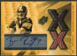 2004 SPx #220 Ben Roethlisberger Spectrum Gold Rookie Ball Jersey Auto #05/25