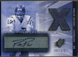 2004 SPx #218 Philip Rivers Rookie Jersey Auto #283/375