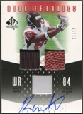 2005 SP Authentic #RFRW Roddy White Rookie Fabrics Jersey Ball Auto #11/15