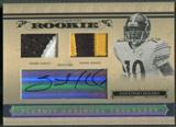 2006 Playoff National Treasures #112 Santonio Holmes Rookie Patch Auto #75/99