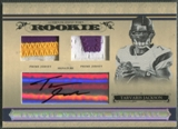 2006 Playoff National Treasures #135 Tarvaris Jackson Rookie Patch Auto #67/99
