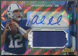 2013 Finest #AJRAL Andrew Luck Prism Refractor Jumbo Jersey Auto #08/25