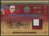 2007 Playoff National Treasures #SY Steve Young Super Bowl Material Signatures Patch Auto #08/25