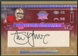 2007 Playoff National Treasures #SY Steve Young Super Bowl Signatures Cuts Auto #11/50