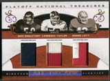 2007 Playoff National Treasures #STL Mike Singletary Lawrence Taylor Ronnie Lott All Decade Trio Patch #06/25