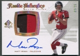 2008 SP Authentic #300 Matt Ryan Gold Rookie Patch Auto #09/25