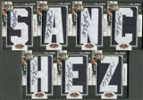 2009 Donruss Threads #232 Mark Sanchez Complete Name Rookie Letter Patch Auto /175