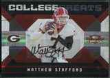 2009 Donruss Threads #16 Matthew Stafford College Greats Rookie Auto #13/25