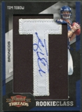 "2010 Panini Threads #199 Tim Tebow Rookie Letter ""T"" Patch Auto #151/250"