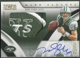 2009 Playoff National Treasures #120 Mark Sanchez Gold Rookie Patch Auto #03/25