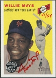 2003 Topps Heritage #WM Willie Mays Real One Red Ink Auto #41/54