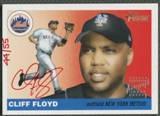 2004 Topps Heritage #CF Cliff Floyd Real One Red Ink Auto #44/55