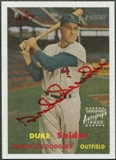 2006 Topps Heritage #DS Duke Snider Real One Red Ink Auto #16/57