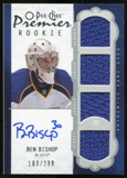 2008/09 Upper Deck OPC Premier #80 Ben Bishop RC Jersey Autograph /299