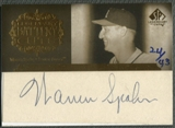 2005 SP Legendary Cuts #WS Warren Spahn Battery Cuts Cut Auto #24/43