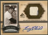 2005 SP Legendary Cuts #TO Tony Oliva Classic Careers Material Gold Jersey Auto #10/10