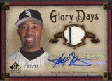 2005 SP Legendary Cuts #HB Harold Baines Glory Days Material Jersey Auto #03/25