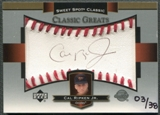 2003 Sweet Spot Classics #CR Cal Ripken Jr. Black Ink Auto #03/38