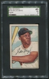 1952 Bowman Baseball #218 Willie Mays SGC 40 (VG) *4016