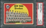 1959 Topps Baseball #510 New York Yankees Team PSA 4 (VG-EX) (MK) *5682