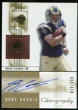 2007 Upper Deck SP Chirography #109 Brian Leonard RC Autograph /399