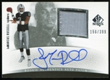 2007 Upper Deck SP Authentic #292 JaMarcus Russell Rookie Patch Autograph /399