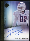 2012 Upper Deck Ultimate Collection Rookie Autographs #12 Juron Criner Autograph