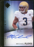 2012 Upper Deck Ultimate Collection Rookie Autographs #15 Michael Floyd Autograph