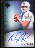 2012 Upper Deck Ultimate Collection Rookie Autographs #16 Nick Foles Autograph