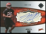 2007 Upper Deck Ultimate Collection #123 Leon Hall RC Autograph /150
