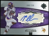 2007 Upper Deck Ultimate Collection #130 Aundrae Allison RC Autograph /250