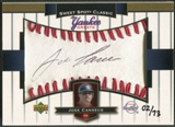 2003 Sweet Spot Classics #JC Jose Canseco Yankee Greats Black Ink Auto #02/73