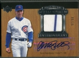 2005 Upper Deck Hall of Fame #SA3 Ryne Sandberg Essential Enshrinement Jersey Auto #06/15