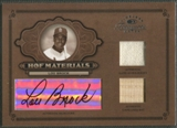 2004 Timeless Treasures #22 Lou Brock HOF Materials Combos Bat Jersey Auto #06/25