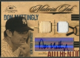 2004 Timeless Treasures #12 Don Mattingly Material Ink Combos Bat Jersey Auto #12/25