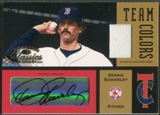 2004 Donruss Classics #25 Dennis Eckersley Team Colors Combos Signature Jersey Auto #043/100
