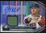 2013 Topps Bowman Platinum Relic Autographs #WM Will Middlebrooks Autograph