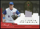 2005 Upper Deck Ultimate Collection Materials #HB Hank Blalock Jersey /25