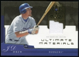 2005 Upper Deck Ultimate Collection Materials #JD J.D. Drew Jersey /25
