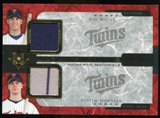 2005 Upper Deck Ultimate Collection Dual Materials #MM Joe Mauer/Justin Morneau Jersey /15