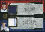 2005 Upper Deck Ultimate Collection Dual Materials #MP Joe Mauer/Mark Prior Jersey /15